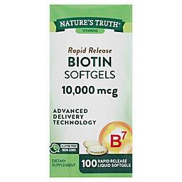 Nature's Truth® 120-Count Maximum Biotin Vitamin Supplement Fast Dissolve Softgels