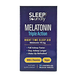 Sleep Soundly® 30-Count 10 mg Melatonin Triple Action Night Time Sleep Aid Tablets