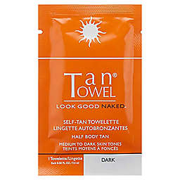 Tan® Towel 10-Pack Half Body Tan Towelettes in Dark