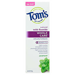 Tom's of Maine® 4 oz. Whole Care® Anti-Cavity Toothpaste with Fluoride in Spearmint