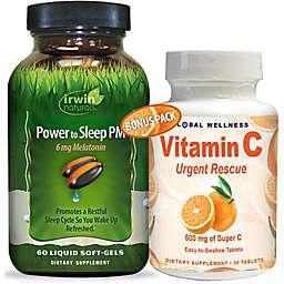 Irwin Naturals® 90-Count Power To Sleep PM with 6 mg Melatonin and Vitamin C Pack