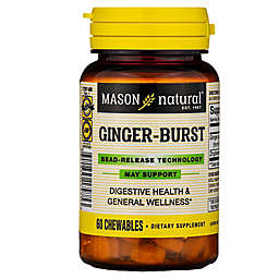Mason Natural® 60-Count Ginger-Burst Bead-Release Technology Chewable Tablets