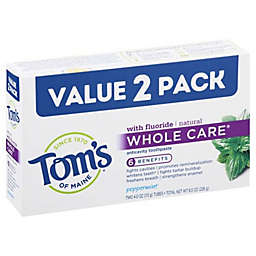 Tom's of Maine® 2-Pack 4 oz. Whole Care Anti-Cavity Toothpaste with Fluoride in Peppermint