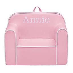 Delta Children Foam Cozee Snuggle Chair in Pink/White