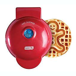 Dash® Gingerbread Man Mini Waffle Maker in Red