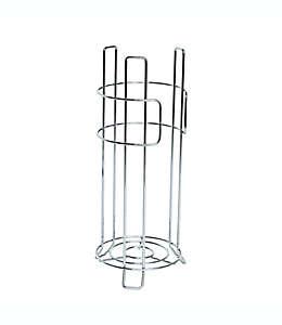 Portarrollos de metal Simply Essential™ Wire para 3 rollos color cromo