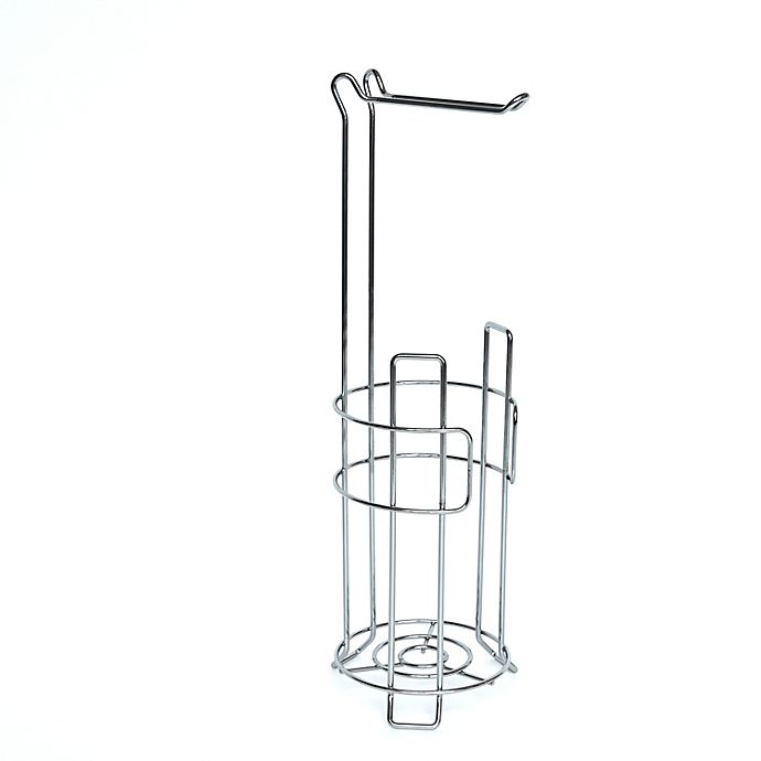 Alternate image 1 for Simply Essential™ Wire Toilet Paper Stand and Reserve in Chrome