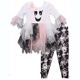 Bonnie Baby® 2-Piece Halloween Tie Dye Ghost Top and Legging Set