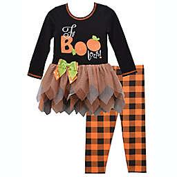 """Bonnie Baby """"Fa-BOO-lous"""" 2-Piece Tutu Top and Legging Set"""