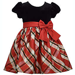 Bonnie Baby Size 4T Velvet and Plaid Taffeta Dress in Red/Black