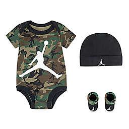 Jordan® Size 0-6M 4-Piece Bodysuit, Hat and Booties Set in Camo