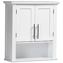 Baxton Studio Dewey 2-Door Storage Cabinet in White