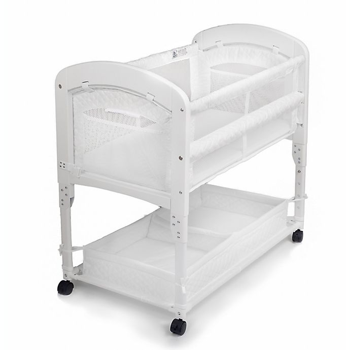 Alternate image 1 for Arm's Reach® Cambria Wood Co-Sleeper® Bassinet in White