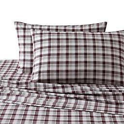 UGG® Winter Plaid Flannel King Sheet Set in Cabernet