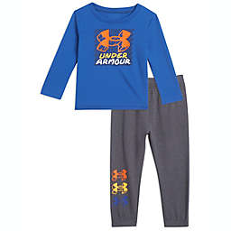 Under Armour® Size 3-6M 2-Piece Fun Times Logo Set in Royal