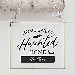 Home Sweet Haunted Home Personalized Glass Suncatcher