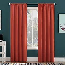 Sun Zero Jules Total Blackout 84-Inch Rod Pocket Window Curtain Panel in Fire Red