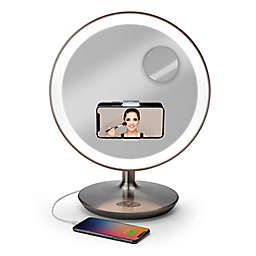 iHome® Glow Ring 10X/1X Oversized Rechargeable Vanity Mirror in Silver/Nickel