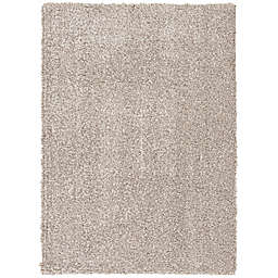 Simply Essential™ 7'6 x 9'6 Shag Area Rug in Ivory/Stone