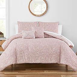 Highline Bedding Co. Macaria 5-Piece Queen Comforter Set in Blush/White