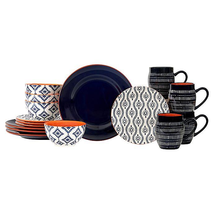 Alternate image 1 for Baum Tangiers 16-Piece Dinnerware Set in Navy