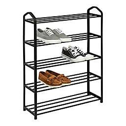 Honey-Can-Do® Streamline Shoe Rack in Black