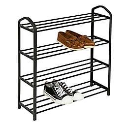 Honey-Can-Do® 4-Tier Streamline Shoe Rack in Black
