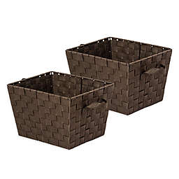 Honey-Can-Do® Task-It Woven Basket in Espresso (Set of 2)