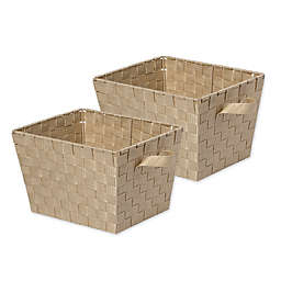 Honey-Can-Do® Task-It Woven Basket (Set of 2)