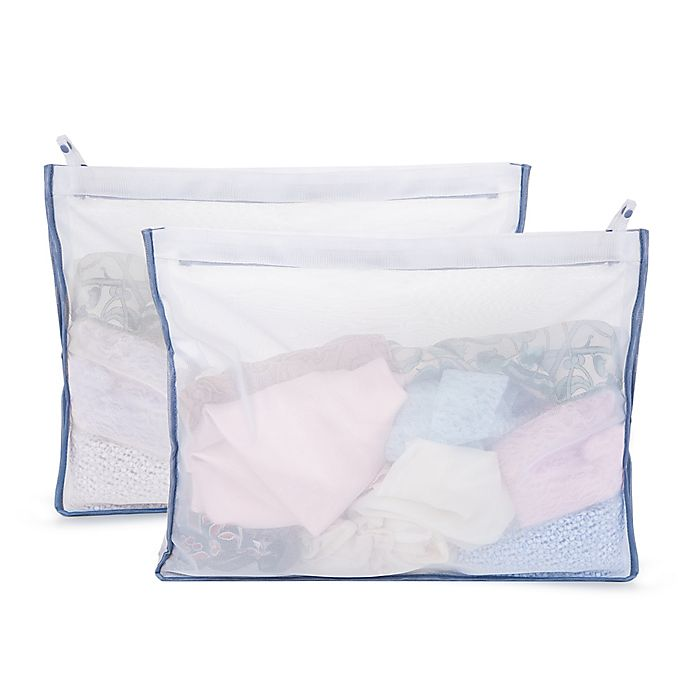 Alternate image 1 for Simply Essential™ Mesh Delicates Wash Bags in White (Set of 2)