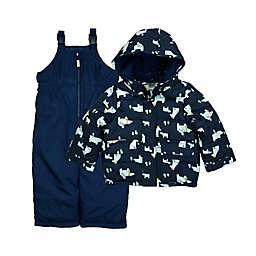 carter's® Size 12M 2-Piece Polar Bear Snowsuit in Navy