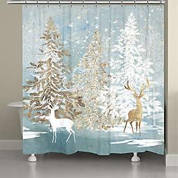 Laural Home® Winter Wonderland 71-Inch x 72-Inch Shower Curtain in Blue