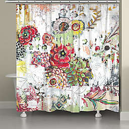 Laural Home® Abstract Bouquet 71-Inch x 72-Inch Shower Curtain