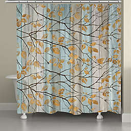 Laural Home® Serene Branches 71-Inch x 72-Inch Shower Curtain in Gold