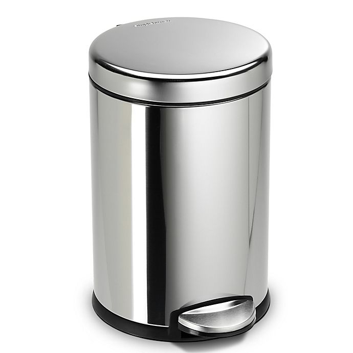 Alternate image 1 for simplehuman® Fingerprint-Proof 4.5-Liter Round Step Trash Can