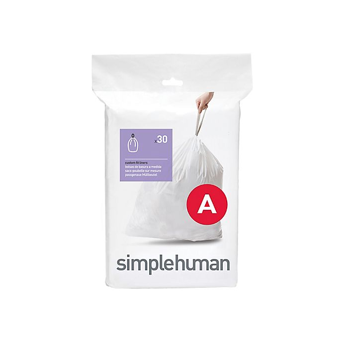 Alternate image 1 for simplehuman® Code A 30-Pack 4.5-Liter Custom Fit Liners