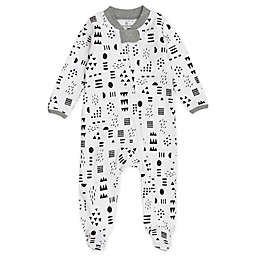 The Honest Company® Pattern Play Organic Cotton Sleep & Play in Black/White
