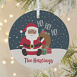 We've Been Good Santa 3.75-Inch Matte Personalized 1-Sided Christmas Ornament