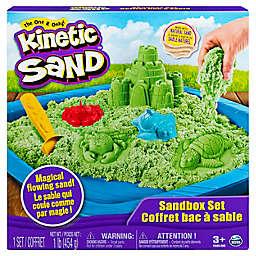 Kinetic Sand Sandbox 6-Piece Playset in Green
