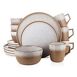 Stone Lain® Vince 16-Piece Dinnerware Set in Brown
