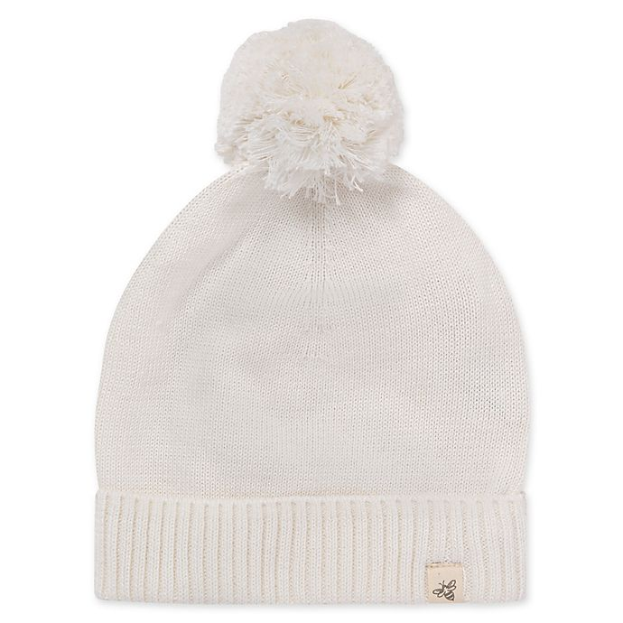 Alternate image 1 for Burt's Bees Baby® Adult Sweater-Knit Hat in Ivory
