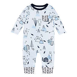 Lamaze® Mountain Bear Super Combed Natural Cotton Long Sleeve Romper in Blue