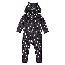 Lamaze® Bear Super Combed Natural Cotton Long Sleeve Hoodie Romper in Grey