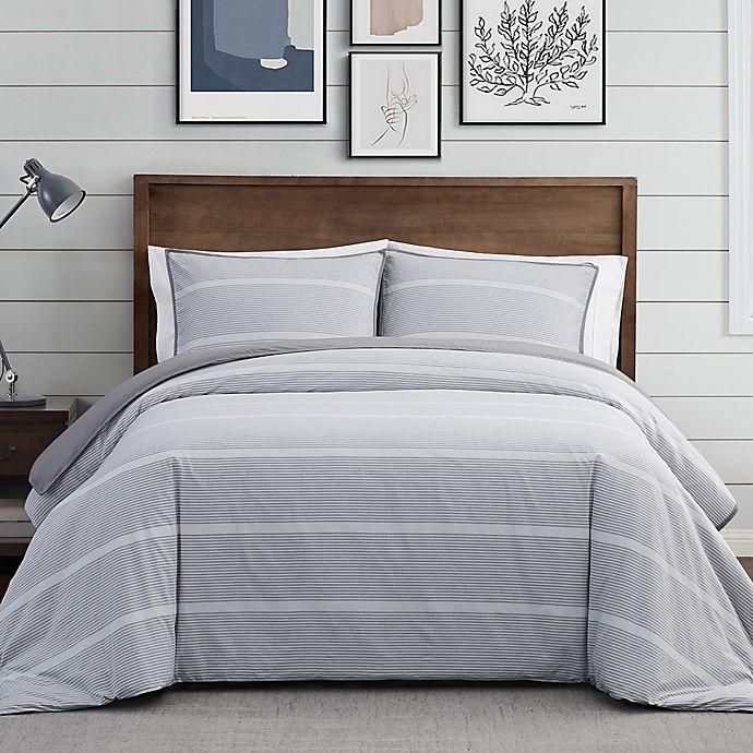 Alternate image 1 for Brooklyn Loom® Niari Yarn Dye Stripe Duvet Set