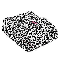 Betsey Johnson® Betsey's Leopard Ultra Soft Plush Blanket in Pink