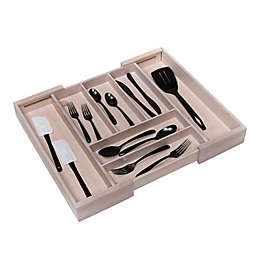 Squared Away™ Large Expandable Bamboo Flatware Organizer in Bamboo