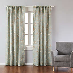 Levtex Home Layn 84-Inch Rod Pocket Window Curtain Panel in Teal