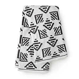 Nest and Nod by Levtex Baby® Chenille Blanket in Black/White
