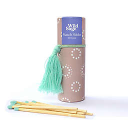 Wild Sage™ 50-Count Decorative Tube of Wooden Match Sticks in Mauve Ditsy