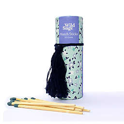 Wild Sage™ 50-Count Decorative Tube of Wooden Match Sticks in Green Floral